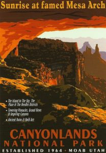 WPA Canyon Lands National Park Poster